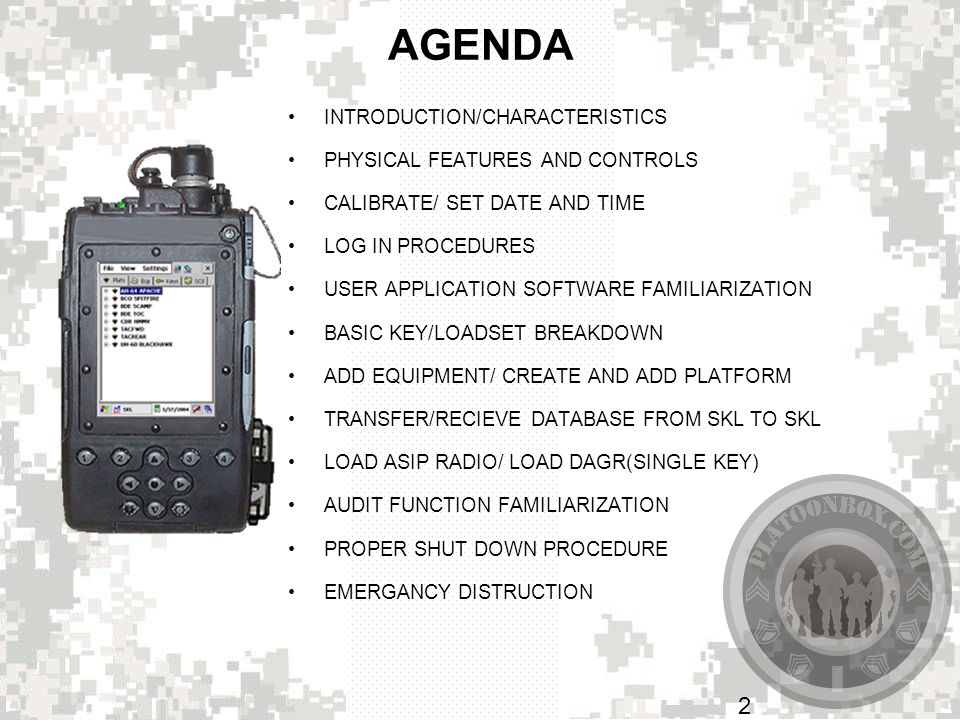 AGENDA INTRODUCTION/CHARACTERISTICS PHYSICAL FEATURES AND CONTROLS