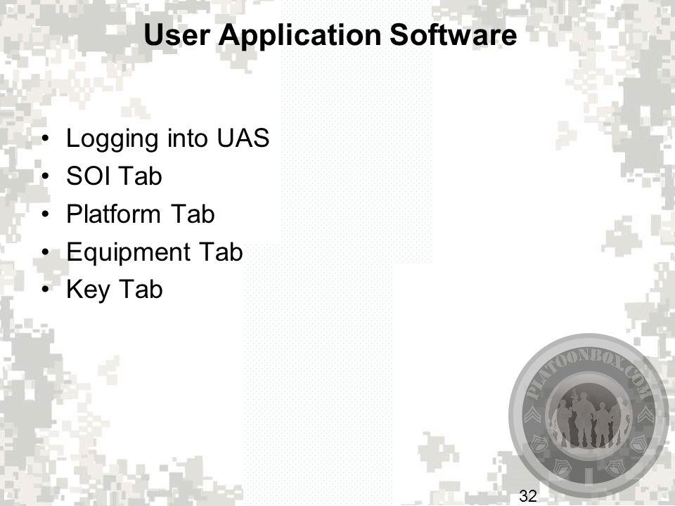 User Application Software