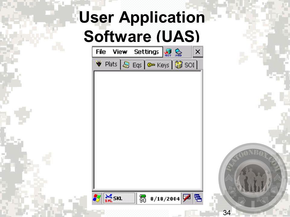 User Application Software (UAS)