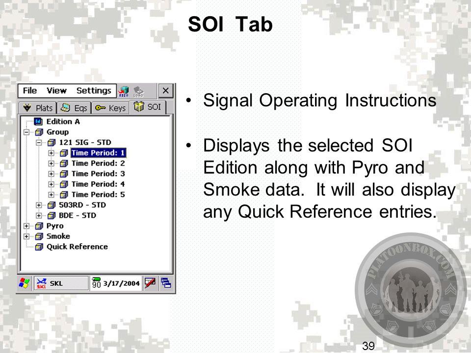 SOI Tab Signal Operating Instructions