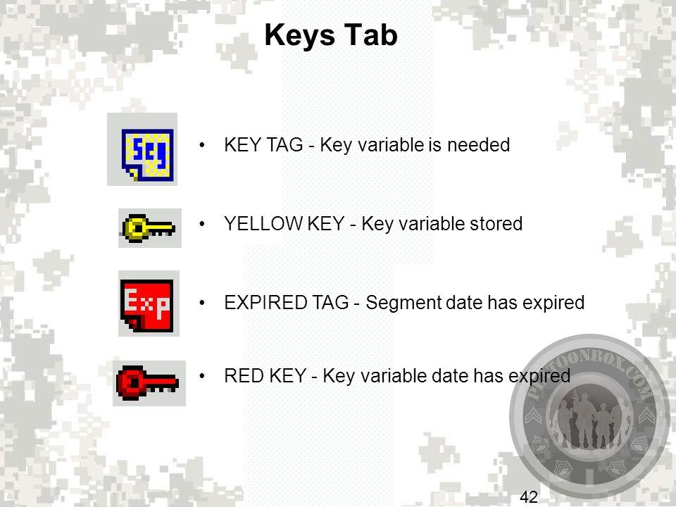 Keys Tab KEY TAG - Key variable is needed