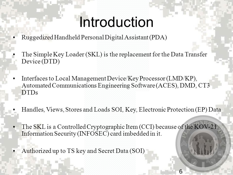 Introduction Ruggedized Handheld Personal Digital Assistant (PDA)