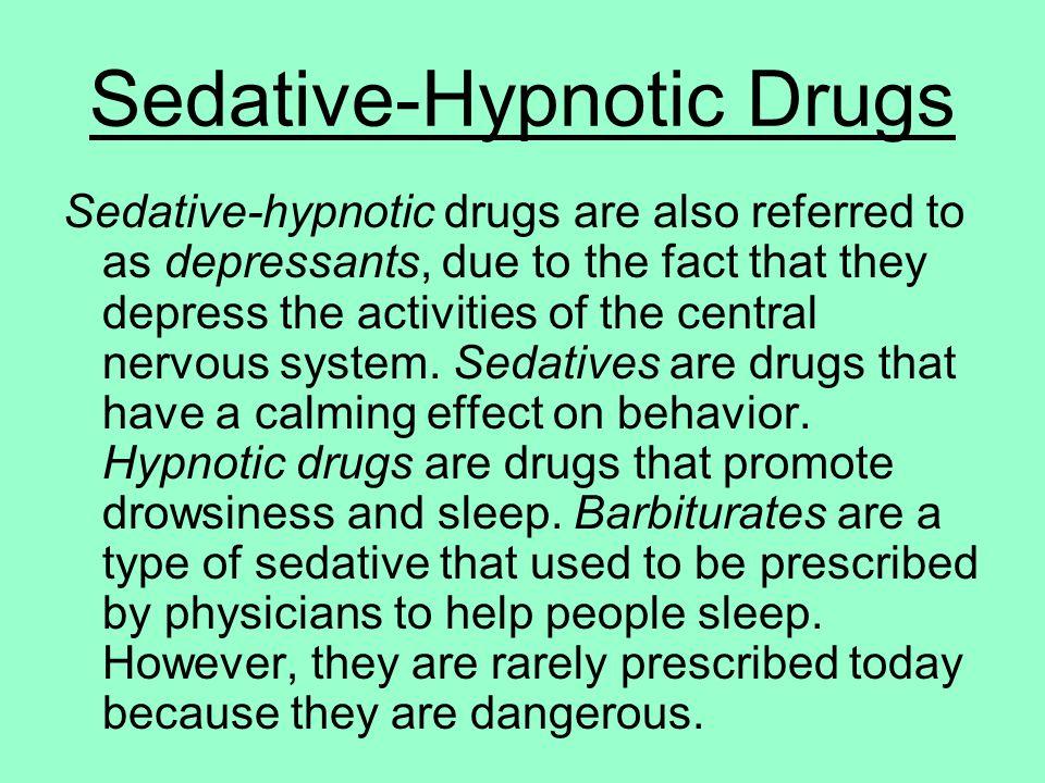 Sedatives Drugs