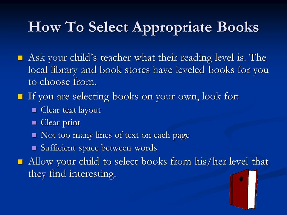 How To Select Appropriate Books