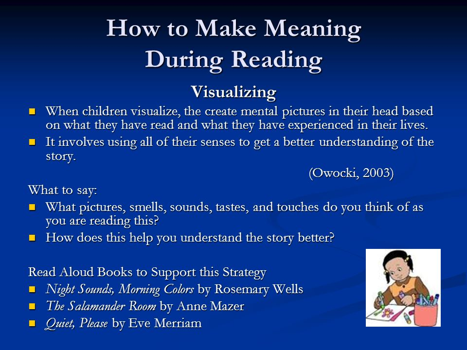 How to Make Meaning During Reading