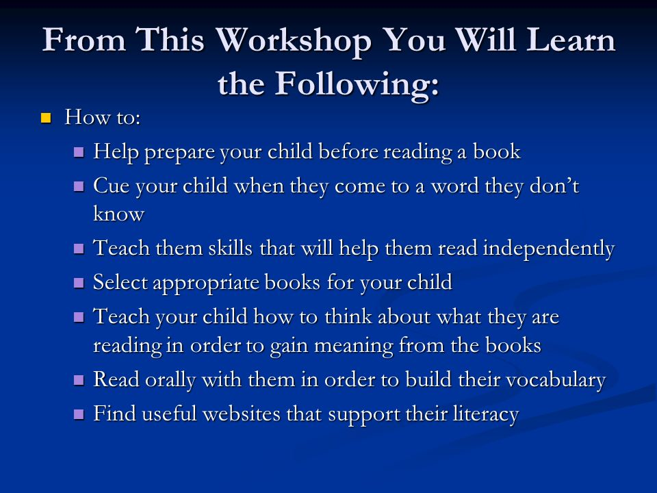 From This Workshop You Will Learn the Following: