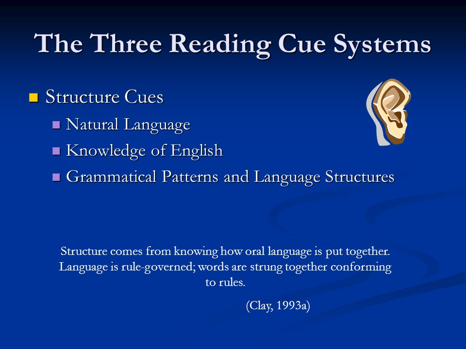 The Three Reading Cue Systems