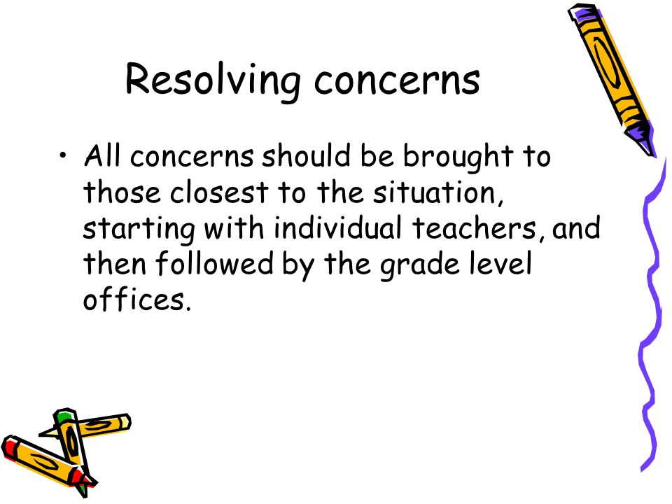 Resolving concerns
