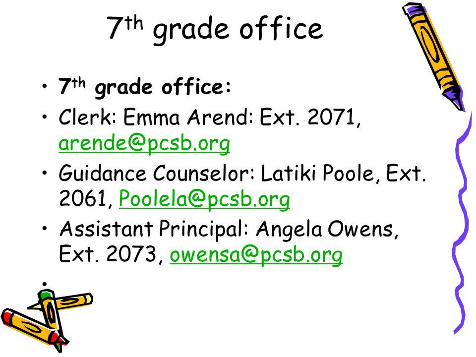 7th grade office 7th grade office: