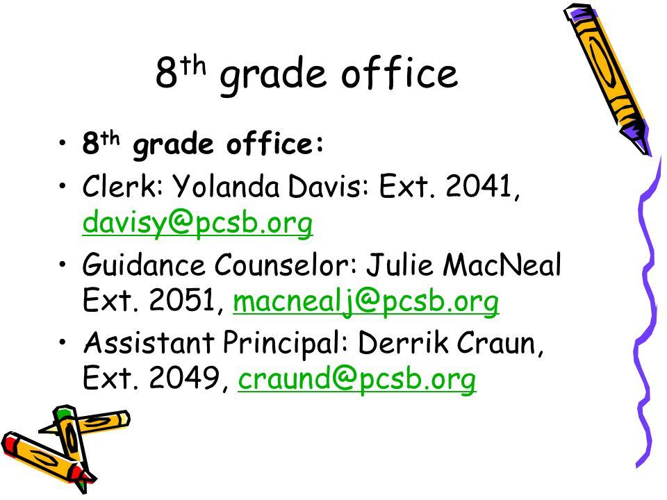 8th grade office 8th grade office: