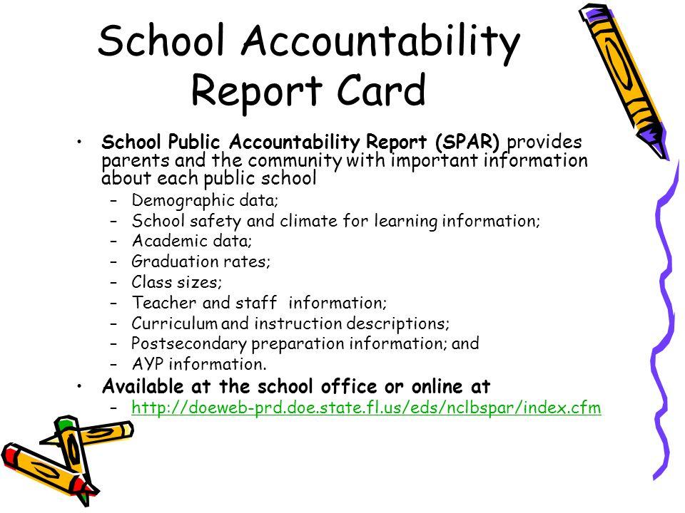School Accountability Report Card