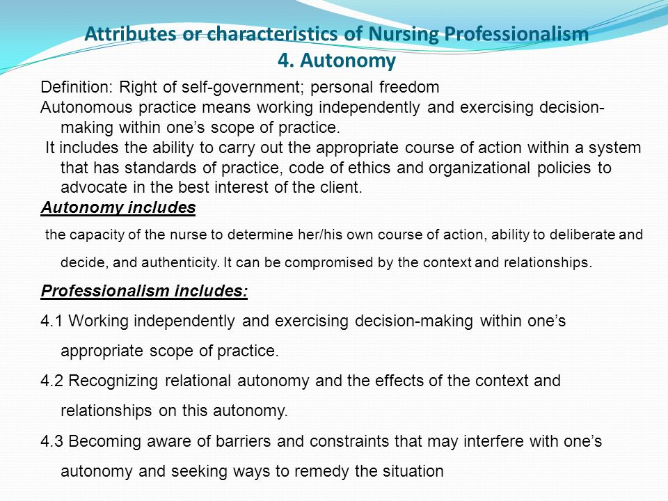 attributes of a good nurse