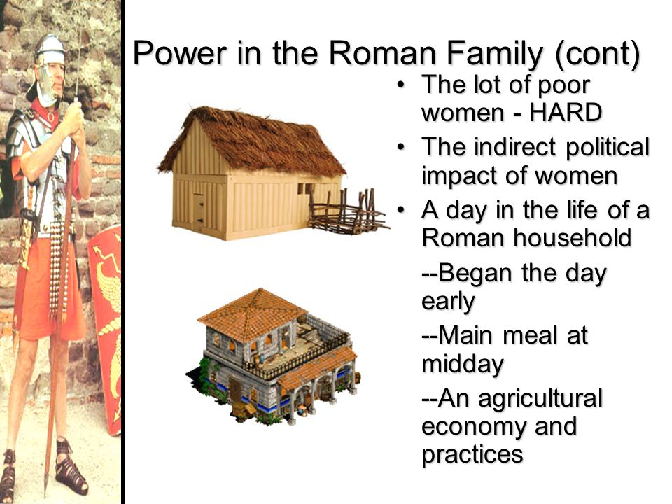 Power in the Roman Family (cont)