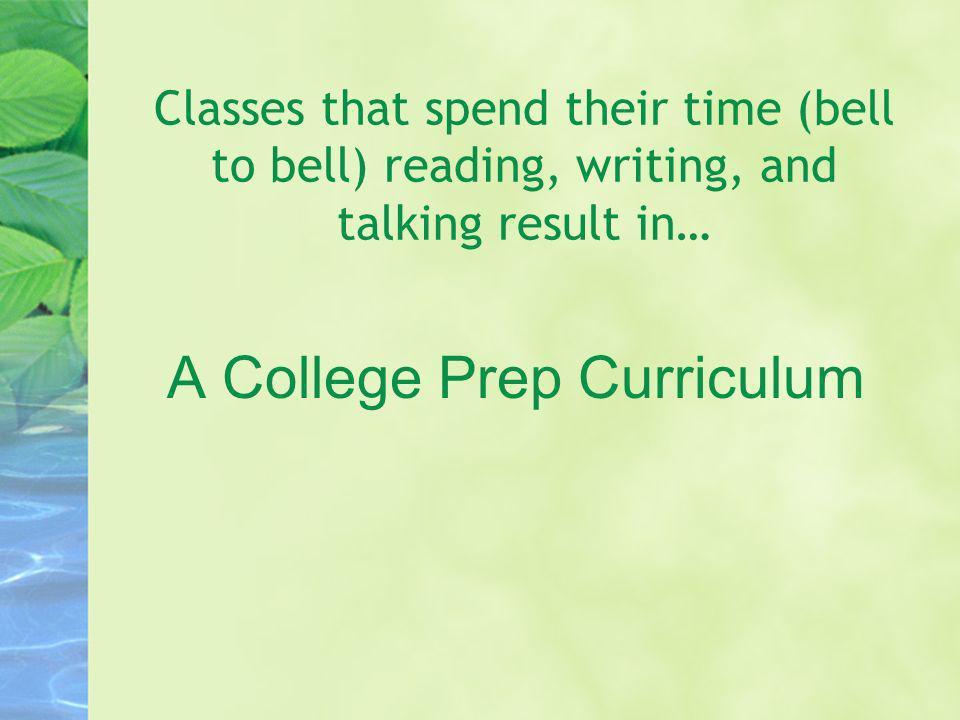 A College Prep Curriculum