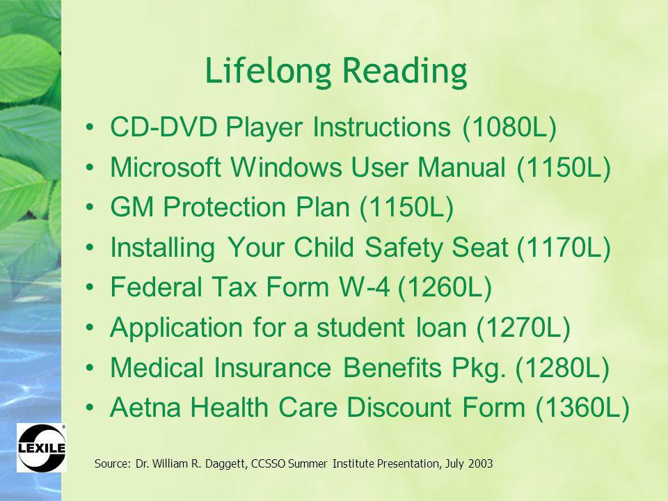 Lifelong Reading CD-DVD Player Instructions (1080L)