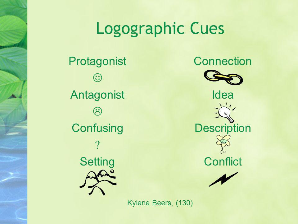 Logographic Cues Protagonist  Antagonist  Confusing  Setting