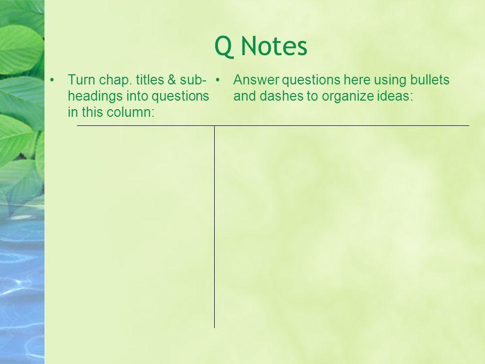Q Notes Turn chap.