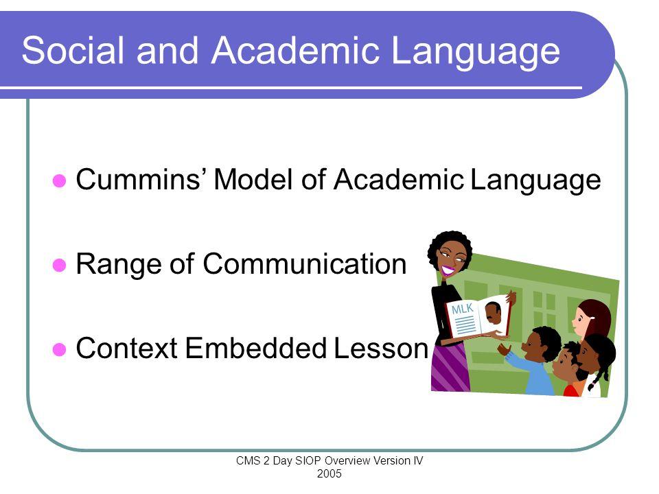 Social and Academic Language