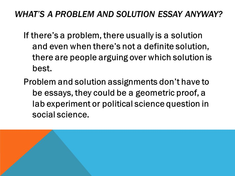problem solution persuasive essay Fifteen winning topics for writing a persuasive problem solution essay when you write a problem solution essay, you're required to describe a problem in detail, suggest a solution, and try to persuade your audience that your solution is the best one.