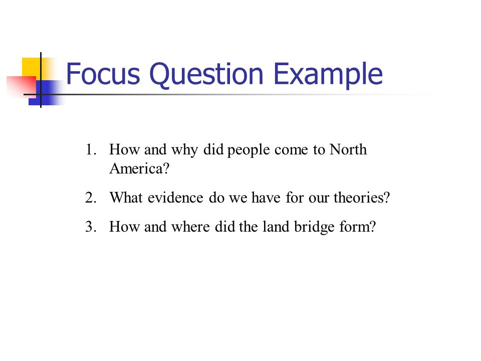 Focus Question Example