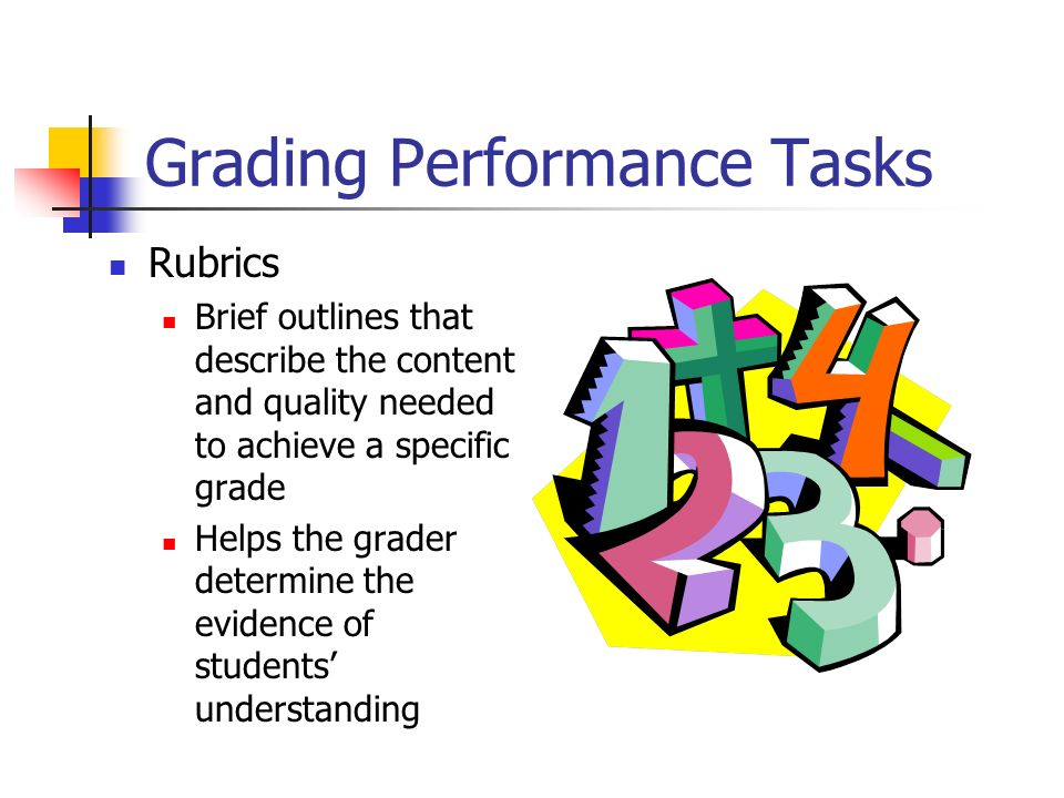 Grading Performance Tasks