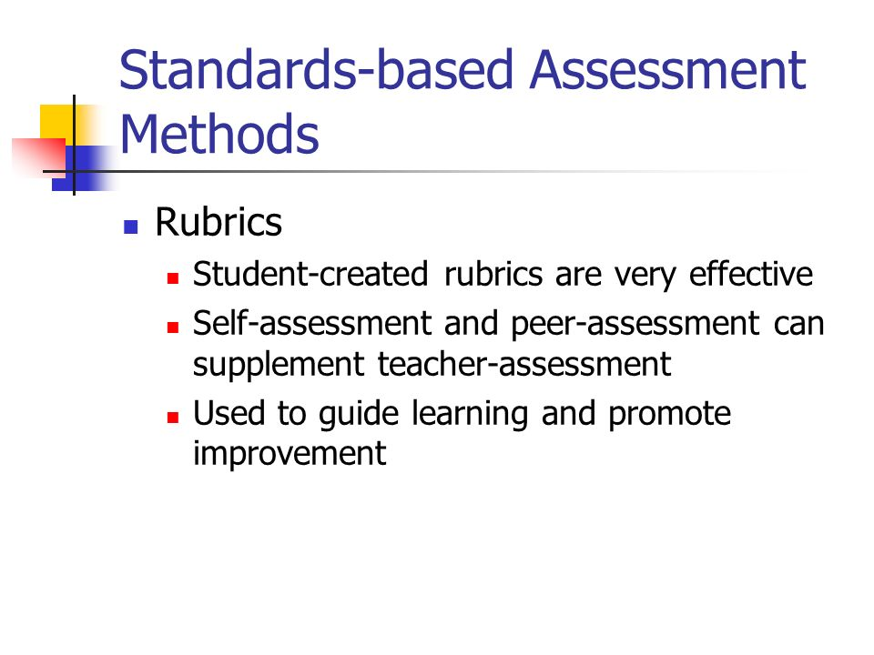 Standards-based Assessment Methods