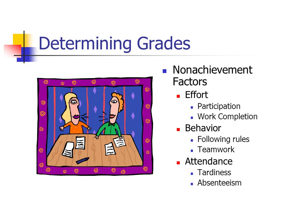 Determining Grades Nonachievement Factors Effort Behavior Attendance