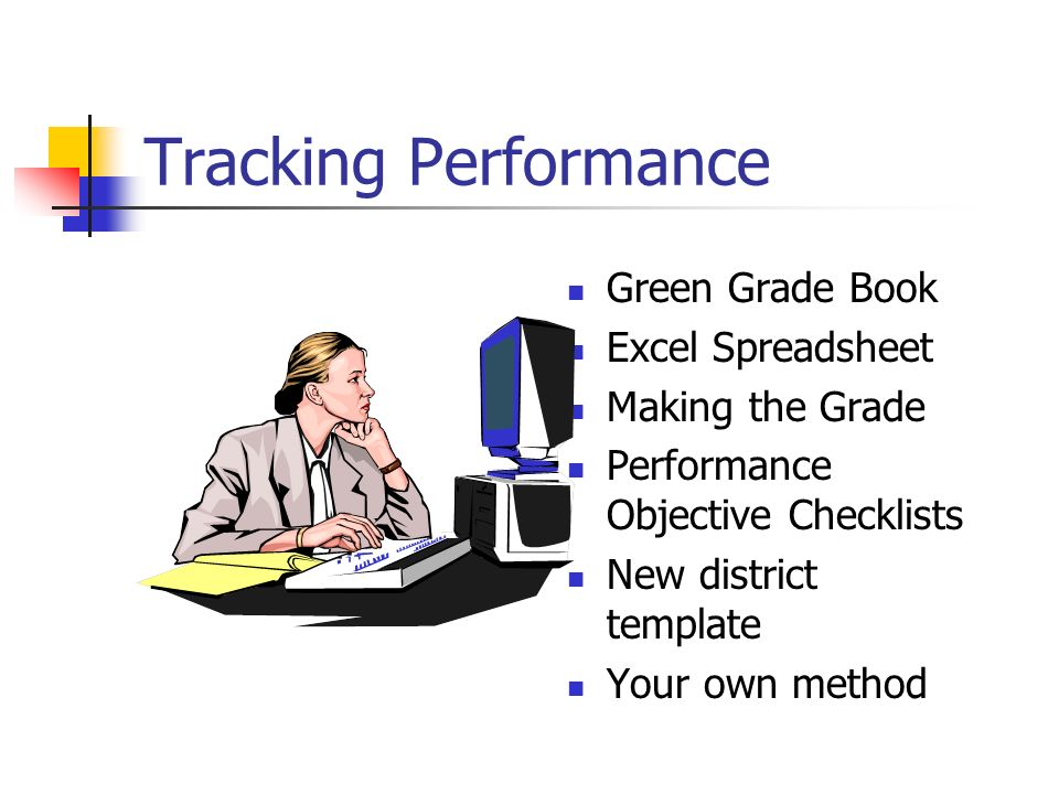 Tracking Performance Green Grade Book Excel Spreadsheet
