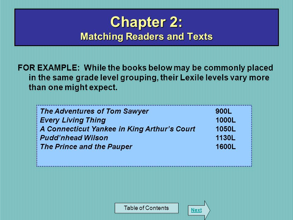 Chapter 2: Matching Readers and Texts