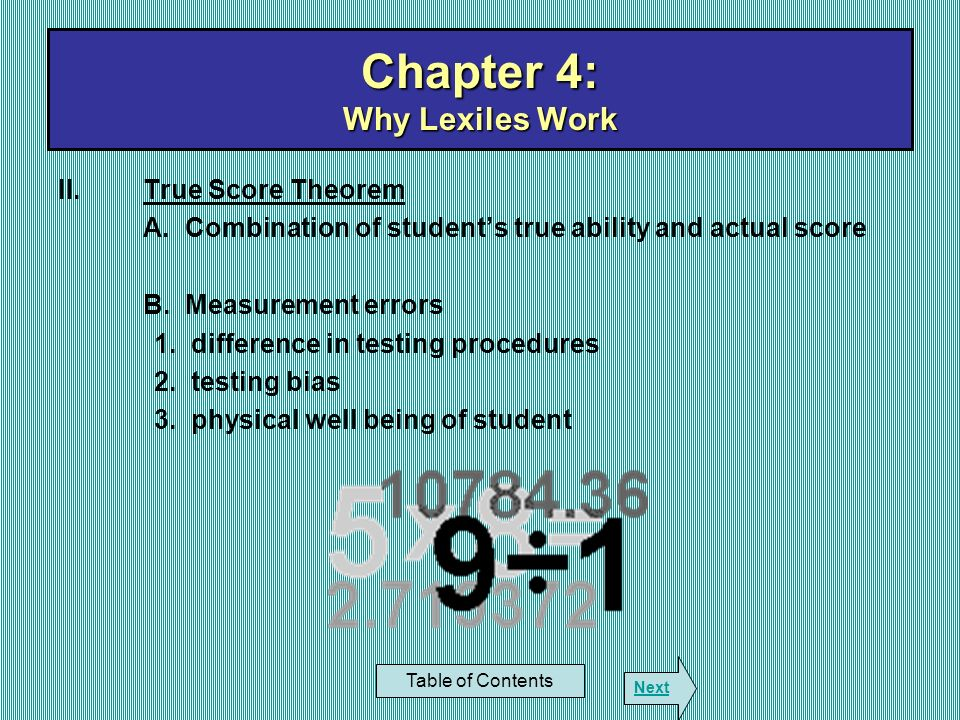 Chapter 4: Why Lexiles Work
