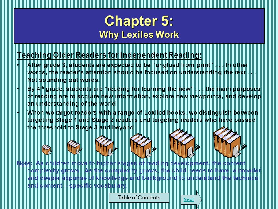 Chapter 5: Why Lexiles Work