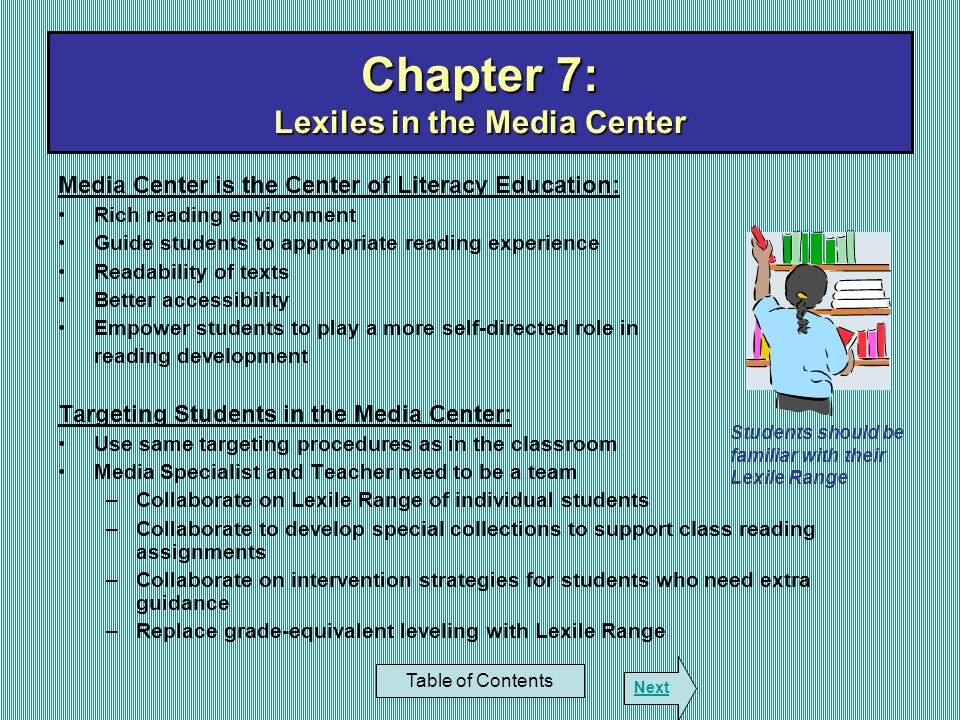 Chapter 7: Lexiles in the Media Center
