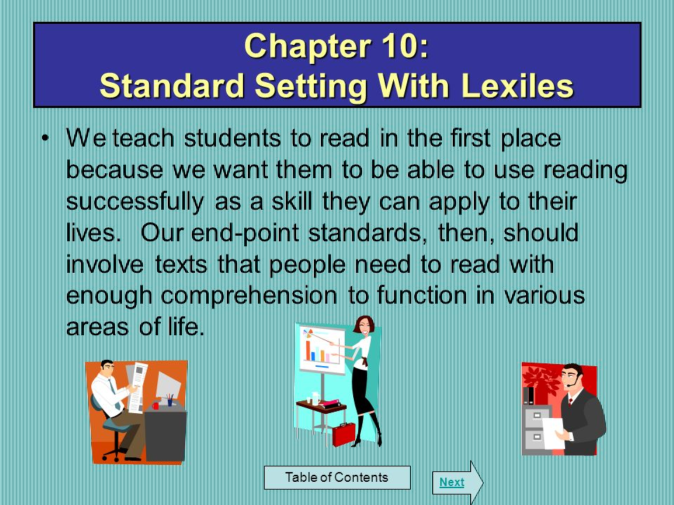Chapter 10: Standard Setting With Lexiles