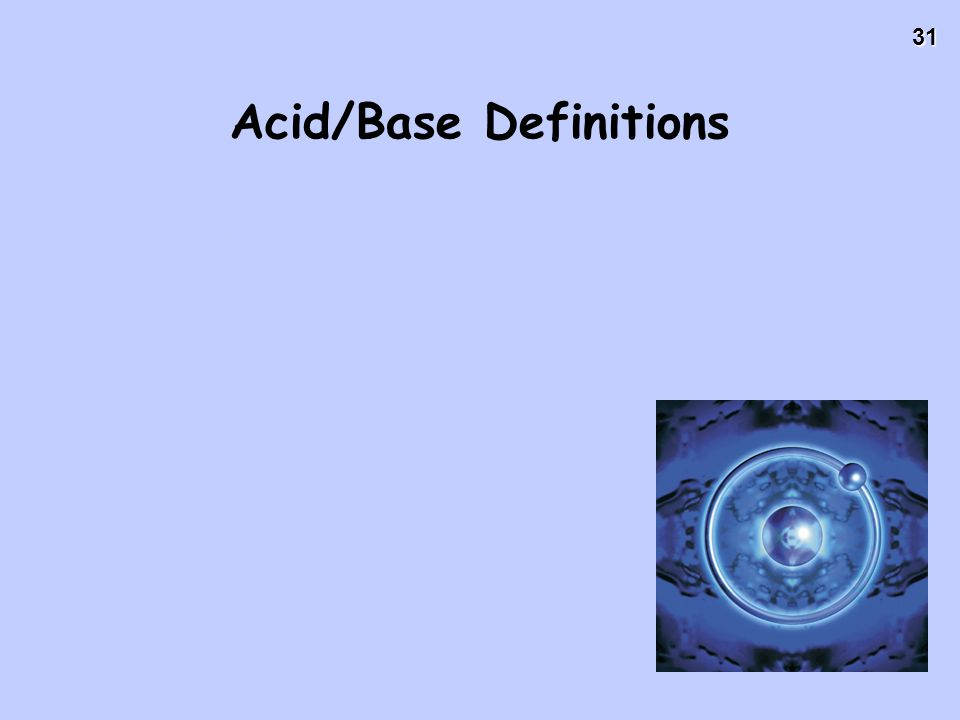 Acid/Base Definitions