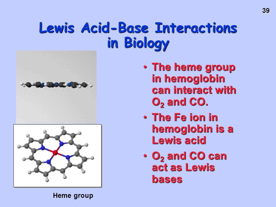 Lewis Acid-Base Interactions in Biology
