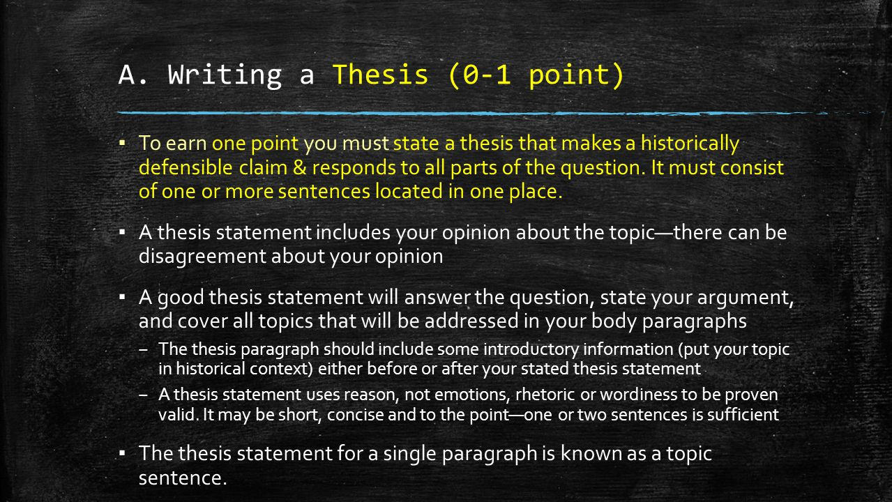 Thesis Statement With Claim
