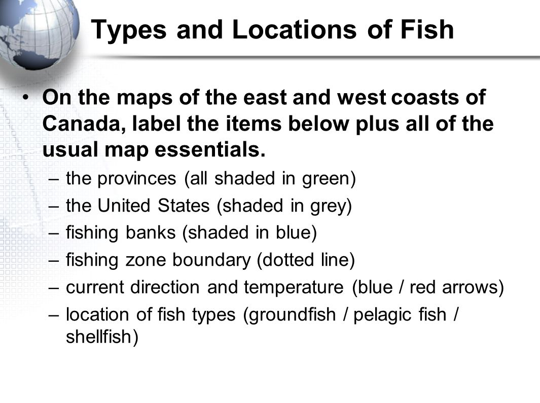 Fishing Geography Of Canada Ppt Download - Map of canada to label