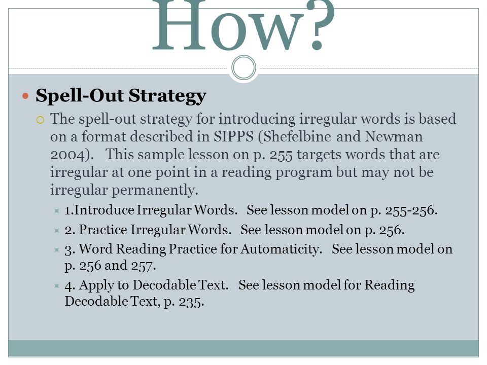 How Spell-Out Strategy