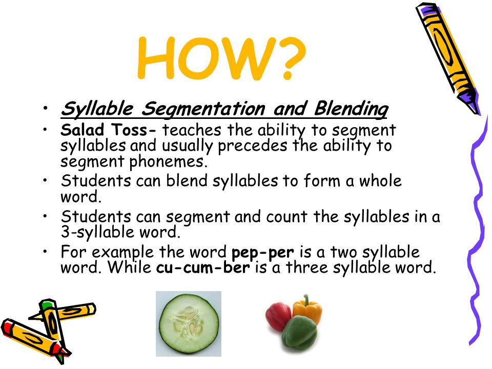 HOW Syllable Segmentation and Blending