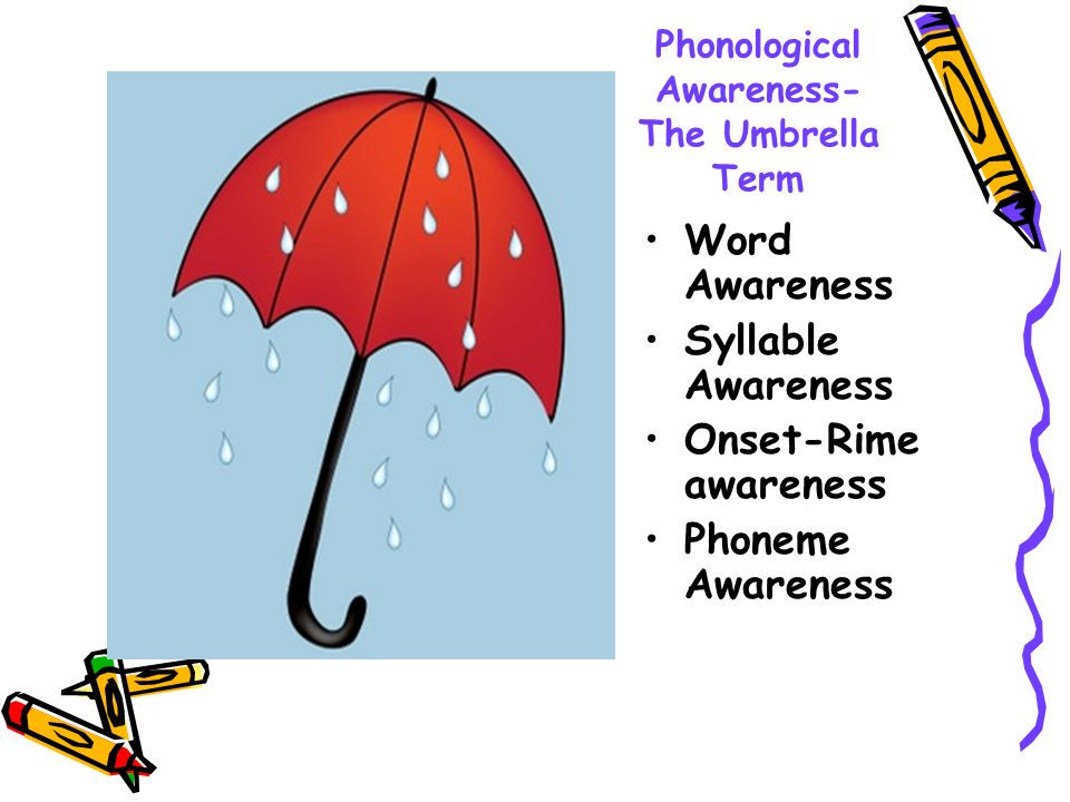 Phonological Awareness- The Umbrella Term