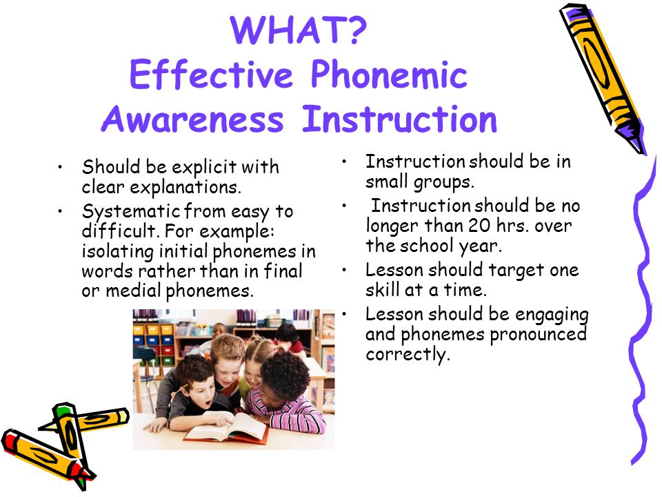 WHAT Effective Phonemic Awareness Instruction