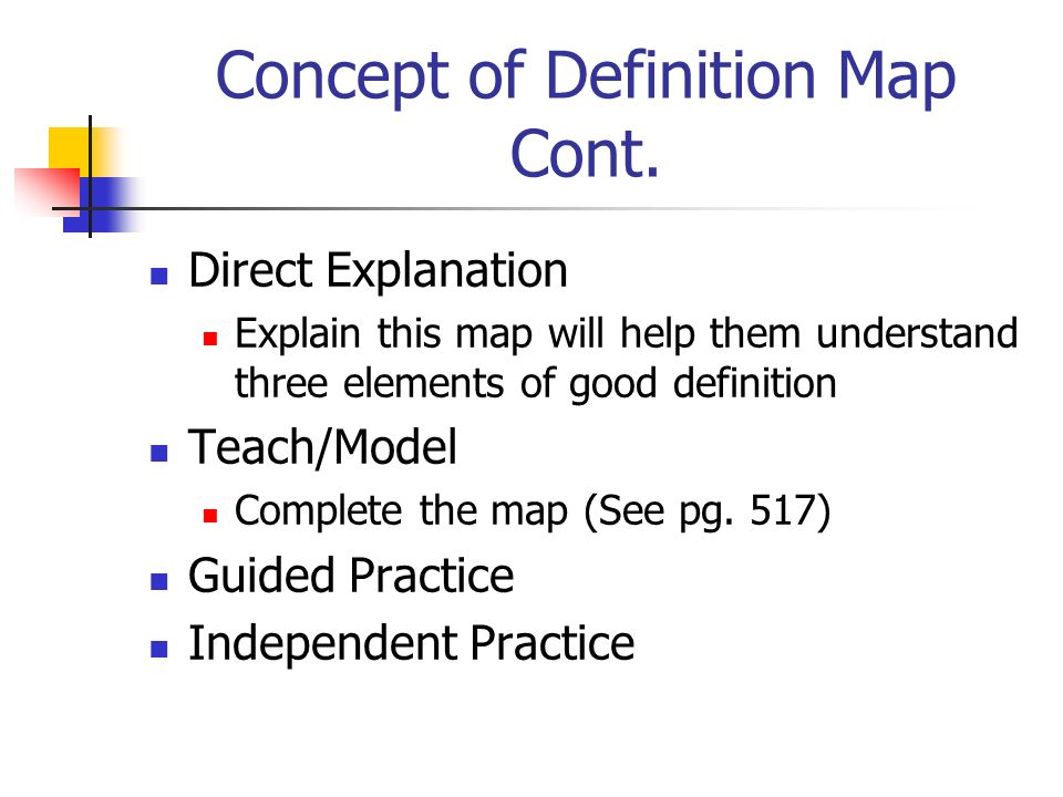 Concept of Definition Map Cont.