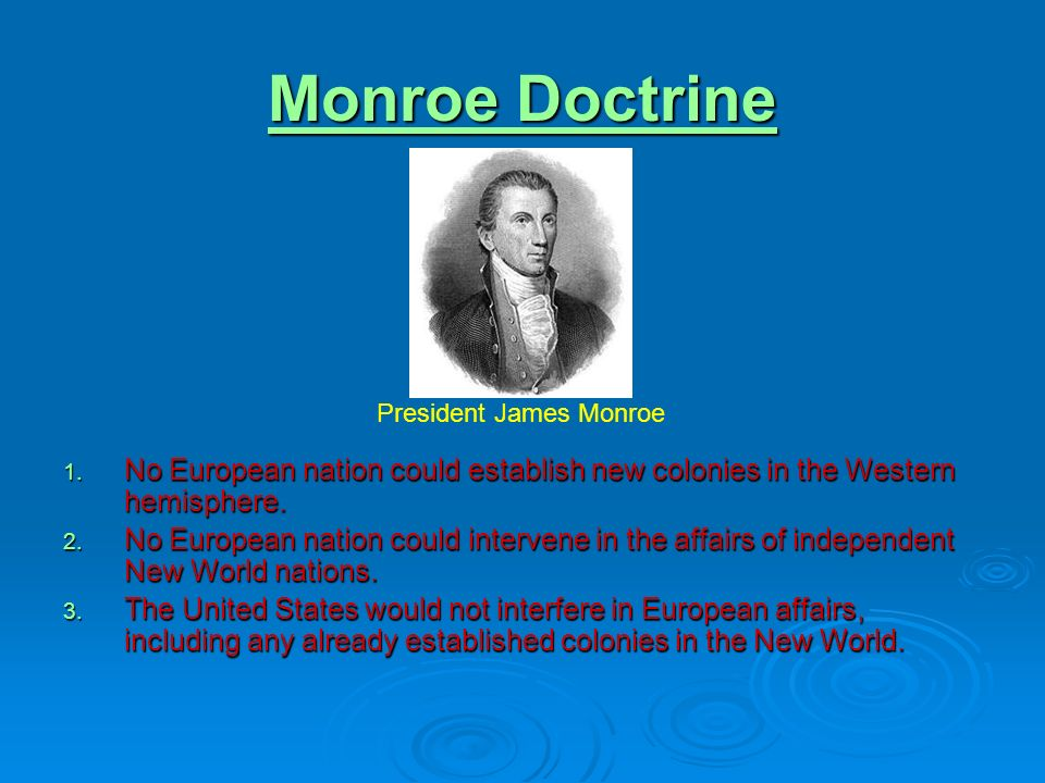 james monroe and postwar nationalism Which james monroe  the era of monroe was referred to as the era of good feelings because of postwar nationalism,  nationalism and the era of good.