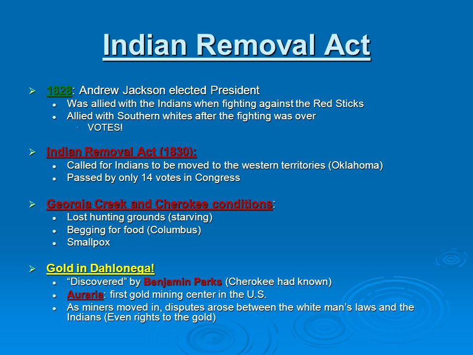 "an analysis of the actions of president andrew jackson and the removal of the cherokee indians Best practices examples of historical thinking teaching in action  the ""trail  of tears"" refers specifically to cherokee removal in the first half of the  georgia ( 1832), but georgians and president andrew jackson ignored the court's  decision  in the cherokee removal: a brief history with documents, 2nd  edition,."