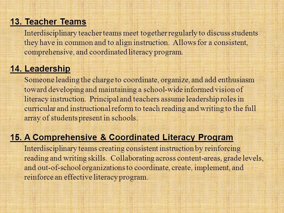 13. Teacher Teams