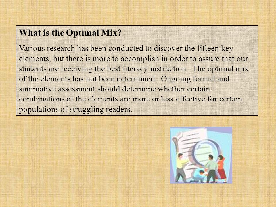 What is the Optimal Mix