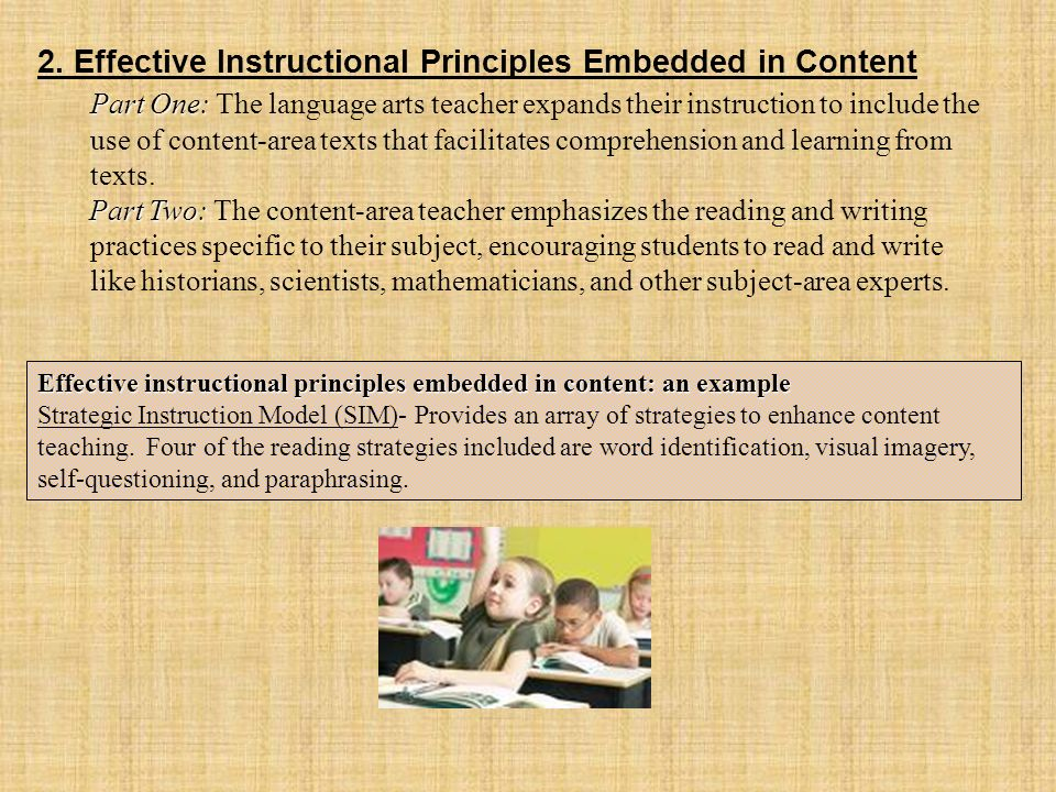 2. Effective Instructional Principles Embedded in Content