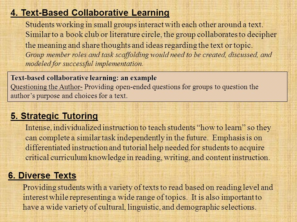 4. Text-Based Collaborative Learning