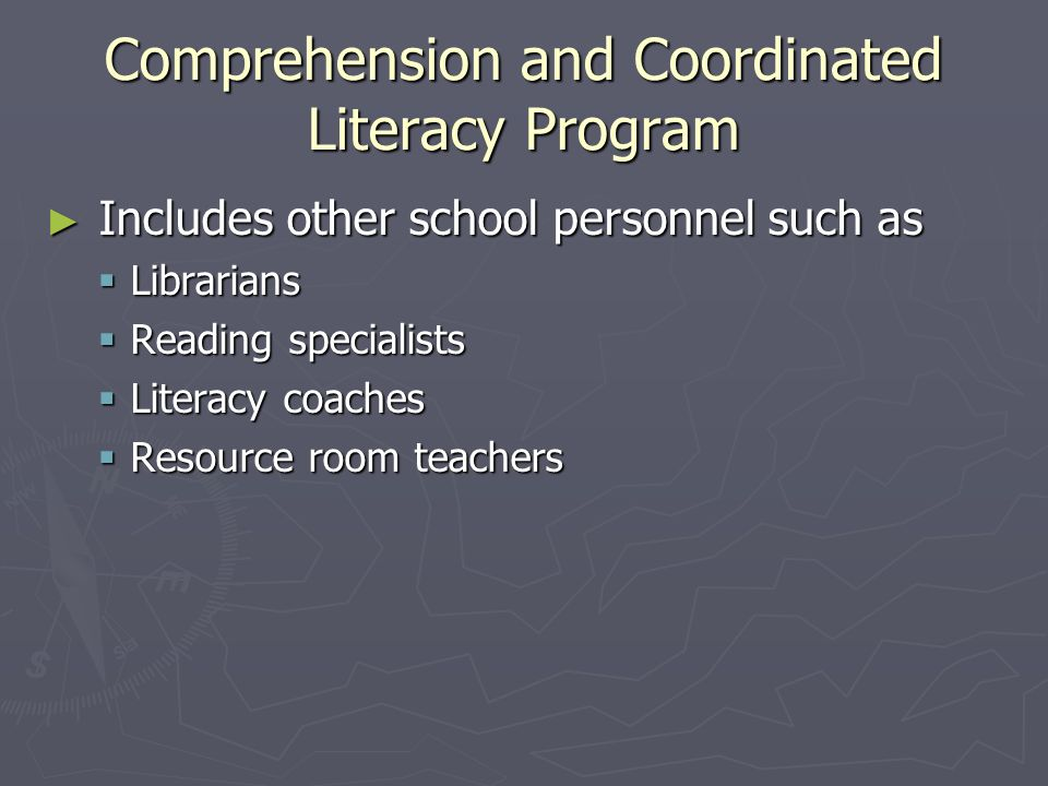 Comprehension and Coordinated Literacy Program