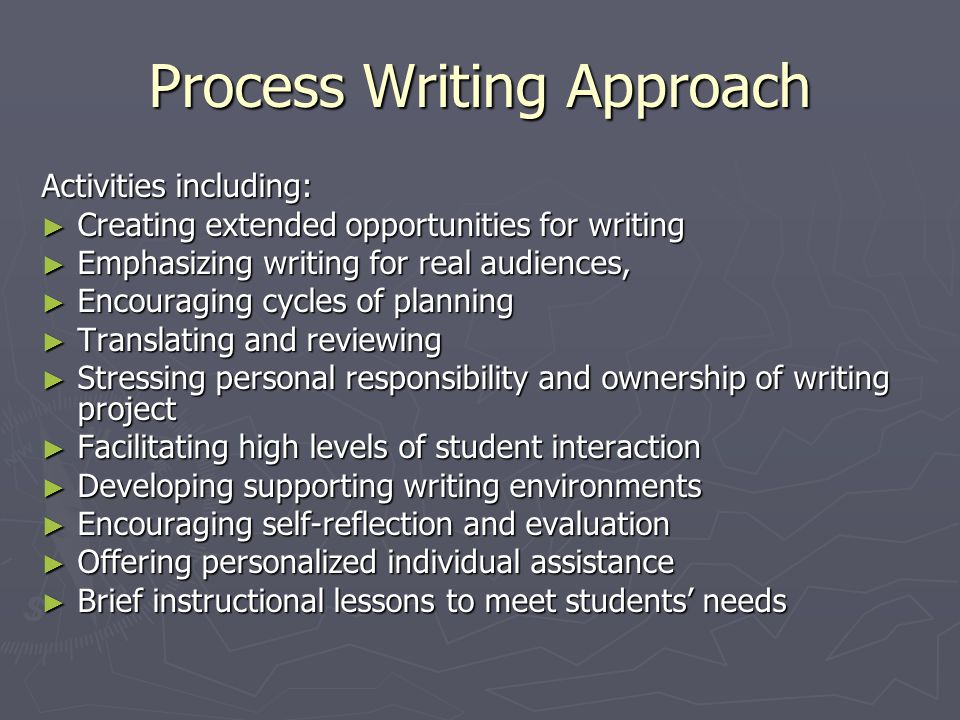 Process Writing Approach